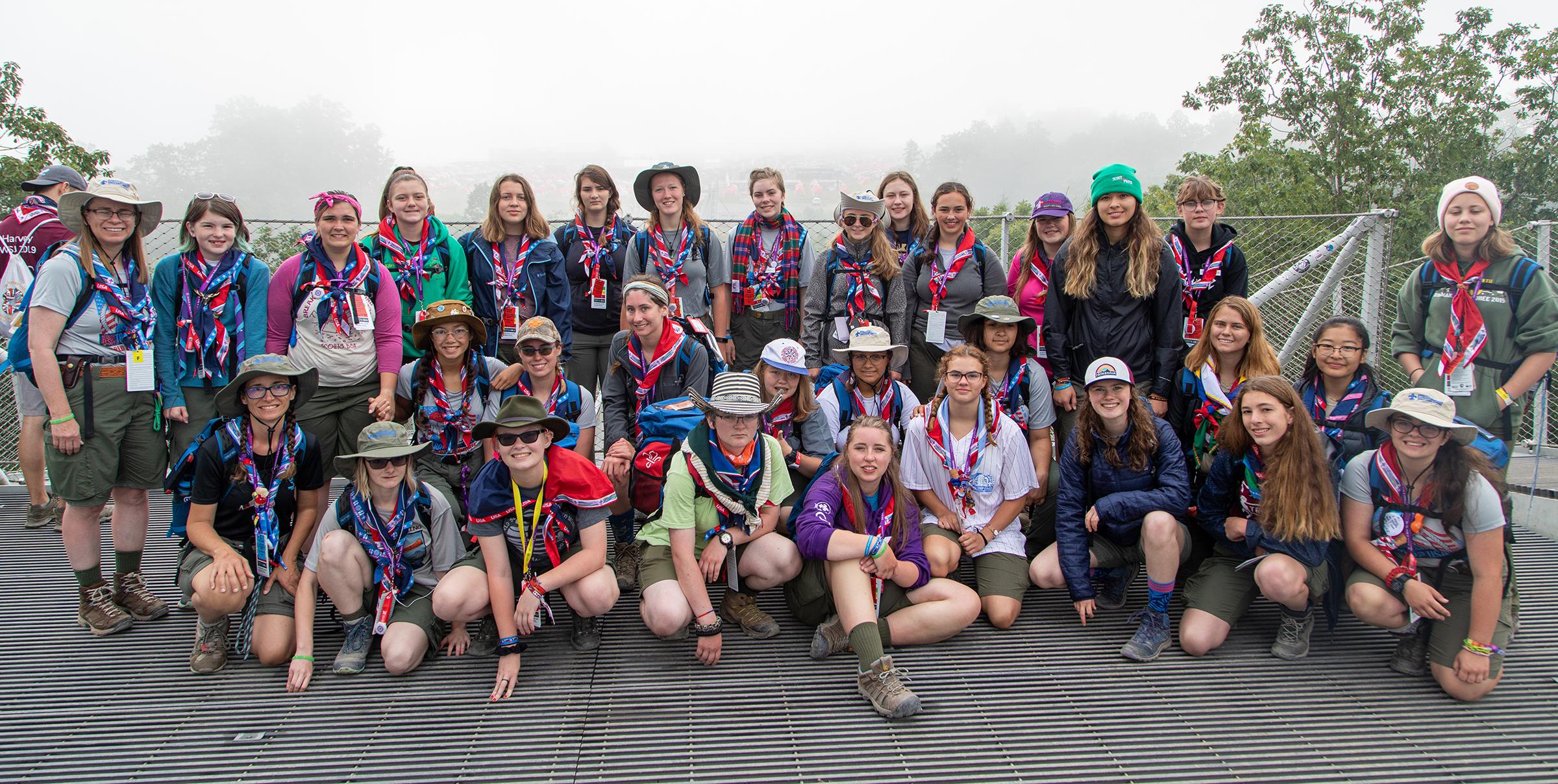 Des filles Américaines innovent au Jamboree